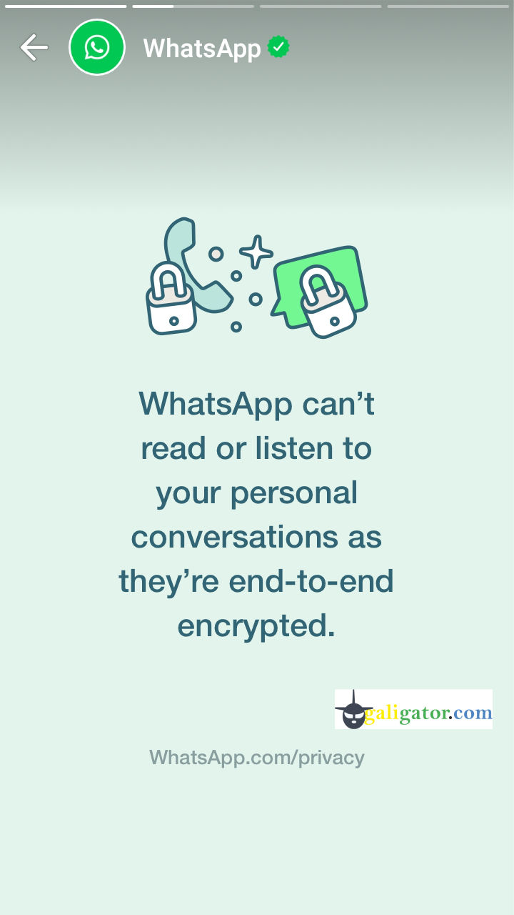 WhatsApp can't read or listen to your personal conversations as they're end-to-end encrypted