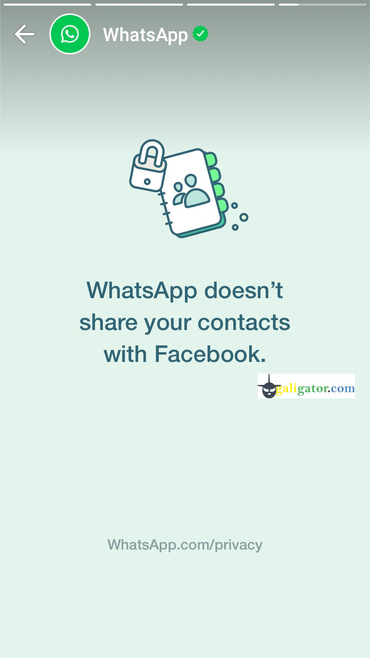 WhatsApp dosen't share your contacts with facebook