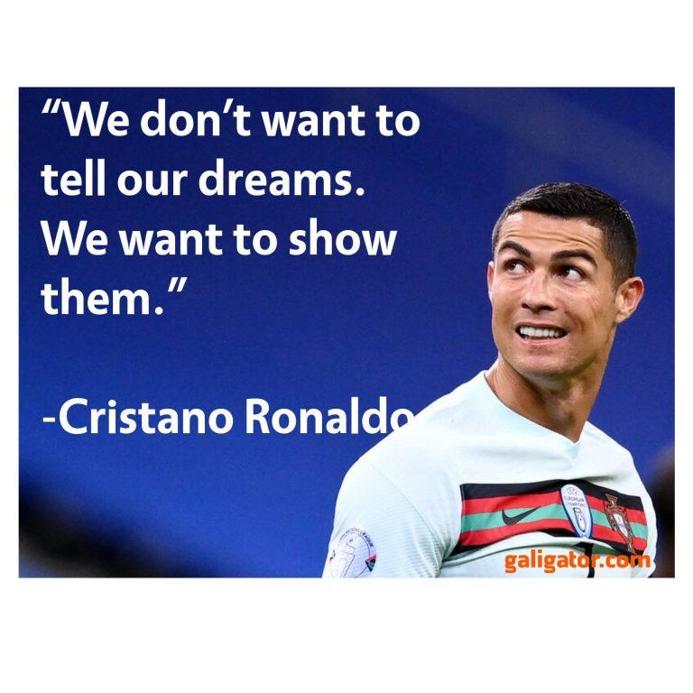 42 Best Cristiano Ronaldo(Cr7) Inspirational Motivational Ronaldo Quotes